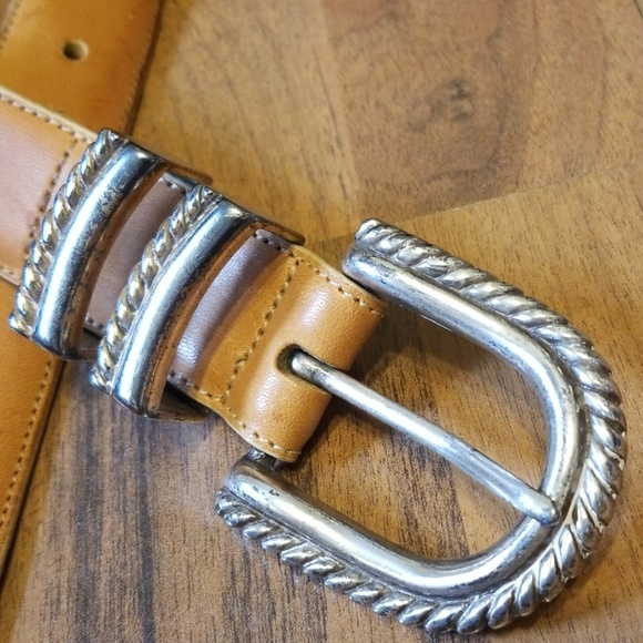 Brighton Accessories - Brighton | Tan Leather Belt with Silver Buckle